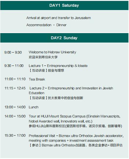 以色列希伯来大学博士后研究学者项目(北京班)